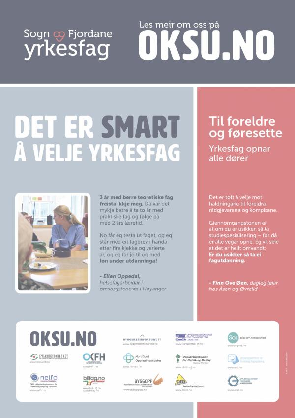 Plakat OKSU smart yrkesval 2020